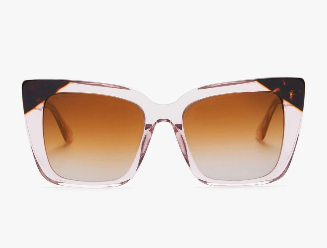 Lizzy Lt. Pink/Brown Gradient Sunglasses