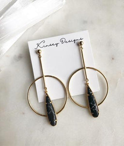 Geometric Earring w/ Teardrop