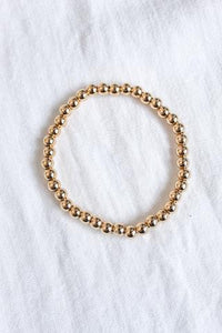 5mm Gold Filled Bead Bracelet