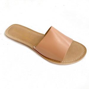 Nude One Strap Slides