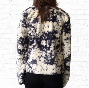 Marbled Fur Jacket  Extra Small