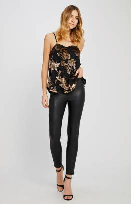 Black Leather Pant