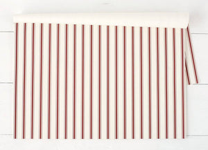 Red Stripe Placemats-Set of 30