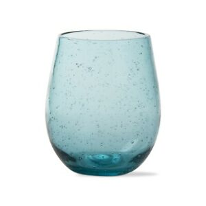 Aqua Bubble Stemless Wine Glass