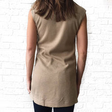 Taupe Mock Neck Tank Sweater-GD