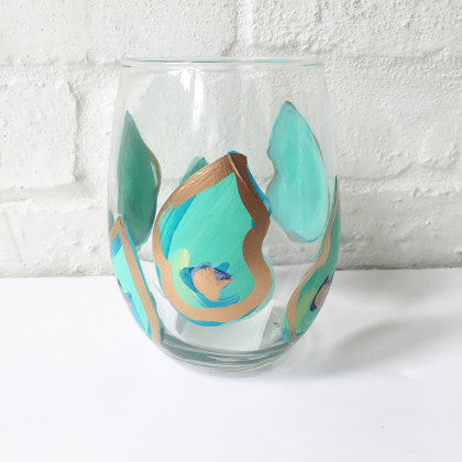 Multi Shell Oyster Blues Glass