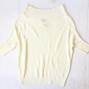 3/4 Ivory Boatneck Sweater