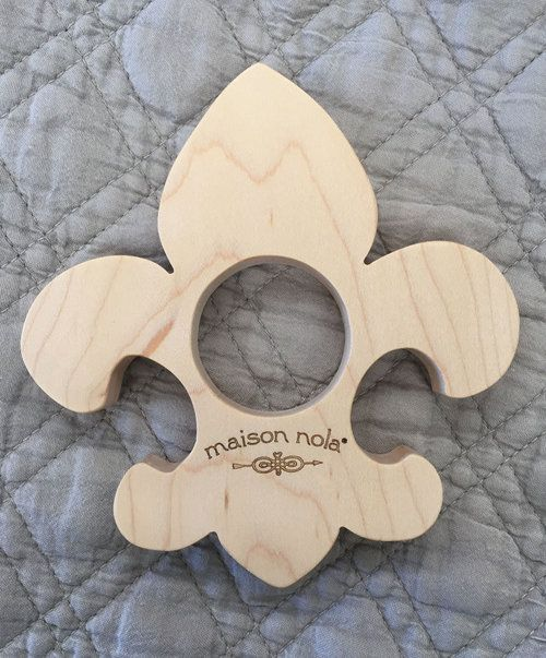 Wooden Fleur de Lis Teether