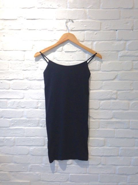X LONG CAMI BLACK O/S-GD