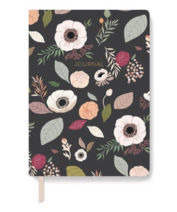 Charcoal Floral Journal