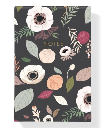 Charcoal Floral Notepad