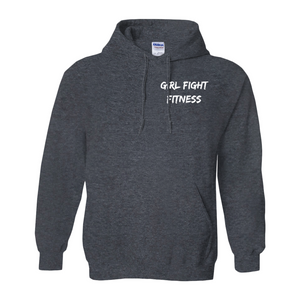 Girl Fight Fitness Hoody - Gray - Front and Back Printing