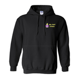 Girl Fight Fitness Hoody - Black & Yellow - Front and Back Printing