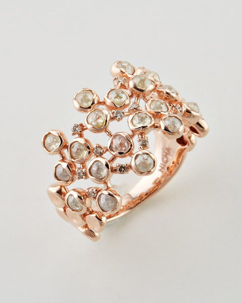 *14k Rose Gold Diamond Ring