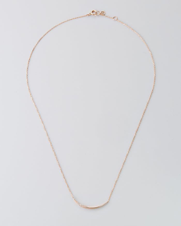 "14k Rose Gold 16"" Diamond Necklace"