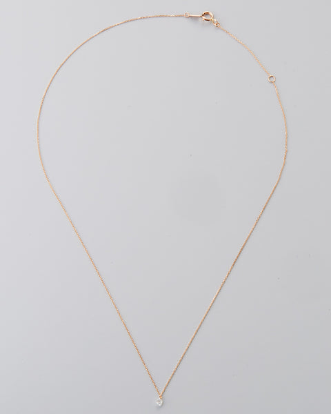 "18k Rose Gold 16"" Diamond Necklace"