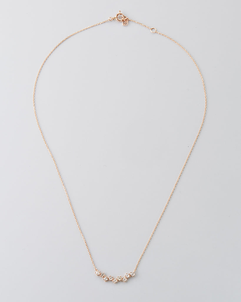 NEED TOTAL WEIGHT 18k Rose Gold Diamond Necklace