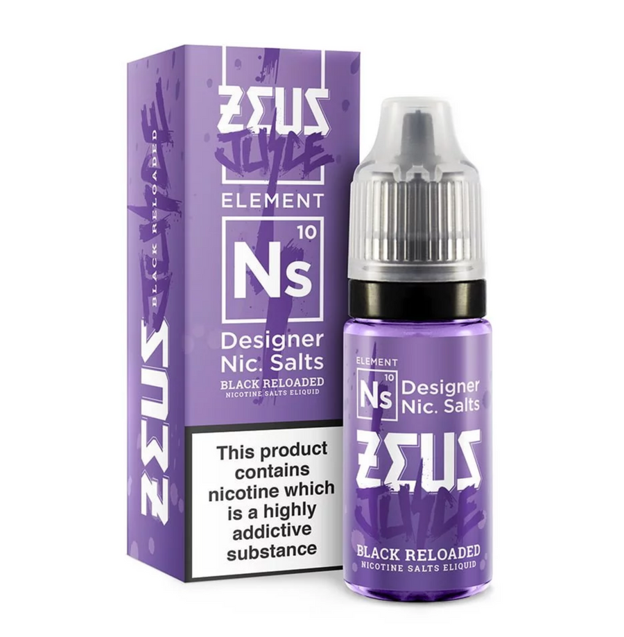 Zeus Juice - Black Reloaded - Nic Salt - 10ml - My Vape Store