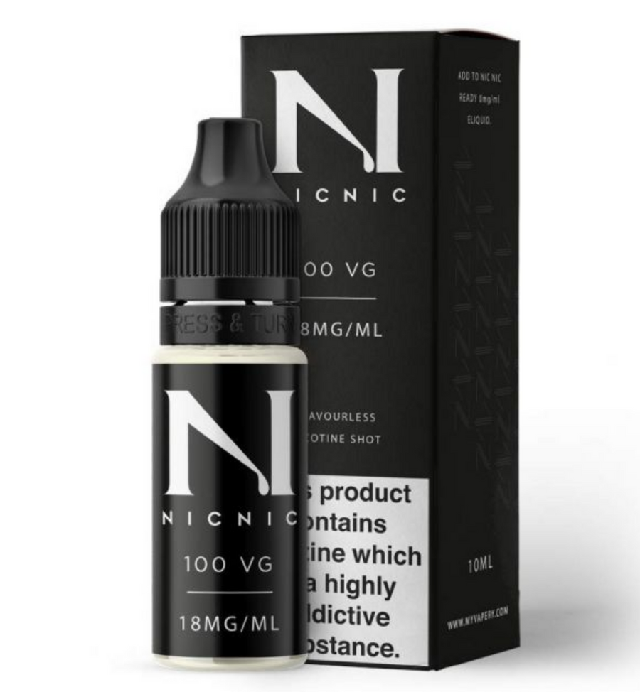 Nic Nic - Nic Shot - 18mg - 100% Vg - My Vape Store UK