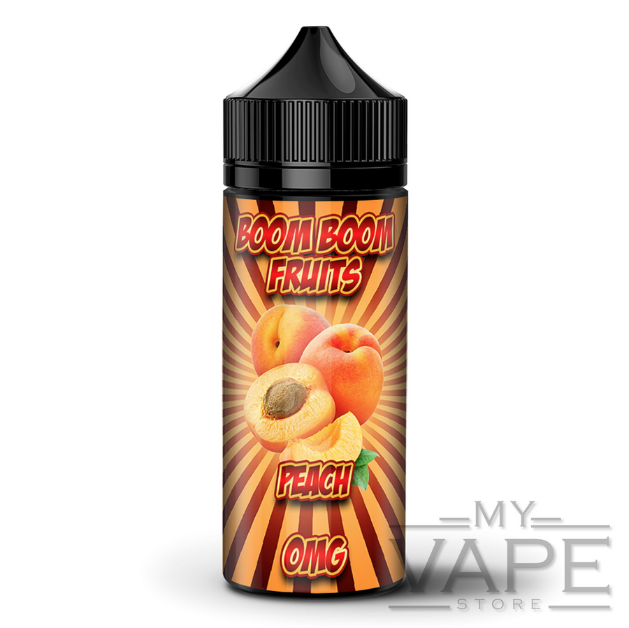 Boom Boom - Fruits Peach - 100ml Shortfill - 0mg - My Vape Store