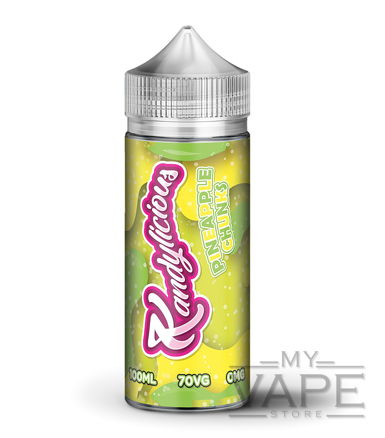 Kandylicious - Pineapple Chunks - 100ml Shortfill - 0mg - My Vape Store