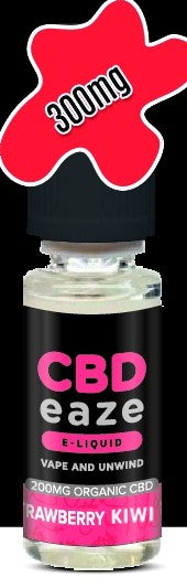 CBDeaze - 300mg - Strawberry/Kiwi - My Vape Store UK