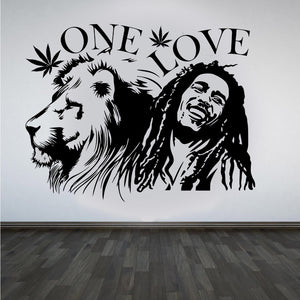 "Bob Marley Lion Zion ""ONE LOVE""  Wall Art"