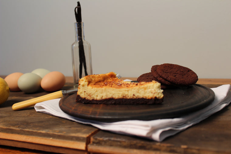 Gluten Free Homemade Granola Crust Cheesecake