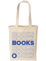 BOOKS Natural Canvas Tote Bag