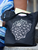 Branch Constellation Black Canvas Tote Bag