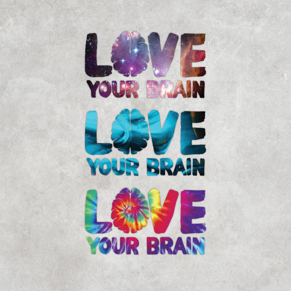 LoveYourBrain Die Cut Sticker