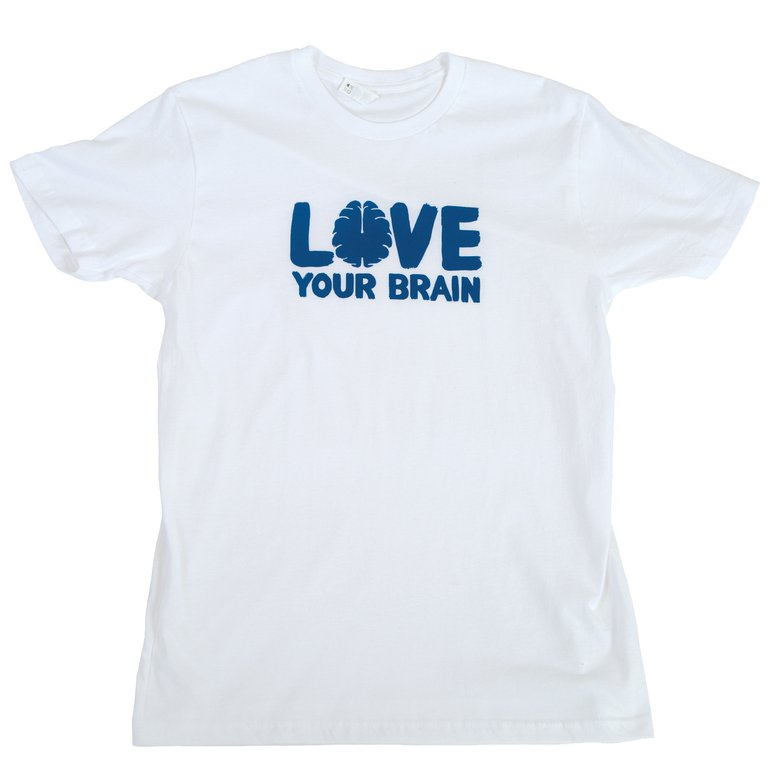 LoveYourBrain T-Shirt: White