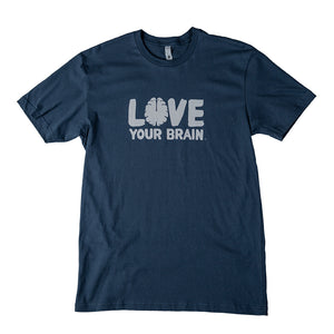 Navy T-Shirt w/ Grey Logo