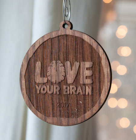 LoveYour Brain Wooden Ornaments