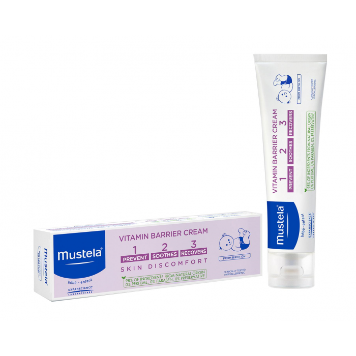 MUSTELA VITAMIN BARRIER NAPPY CHANGE CREAM 1 2 3 100MLCosmetics Online IE
