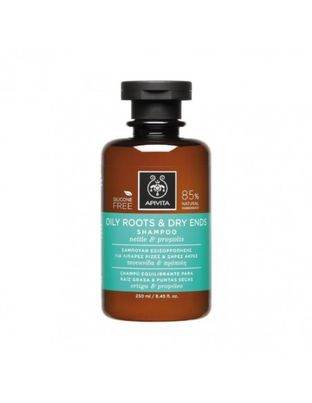 APIVITA-Shampoo Oily Roots & Dry Ends( with Nettle & Propolis) 250mlCosmetics Online IE