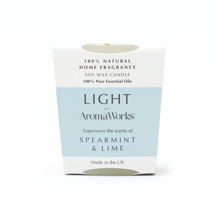 Aroma Works Light Range Spearmint & Lime Candle 10cl Small