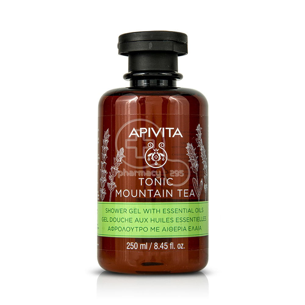 APIVITA -TONIC MOUNTAIN TEA  Shower Gel with Essential Oils 250mlCosmetics Online IE
