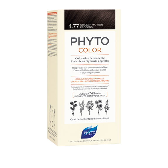 PHYTOCOLOR Permenant Home Hair Colour Intense Chestnut Brown (Shade 4.77 )Cosmetics Online IE