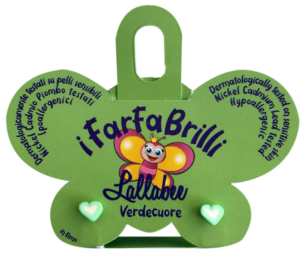 LALLABEE- Farfabrilli Earrings for children ( Verdecuore) LOVEHEARTCosmetics Online IE