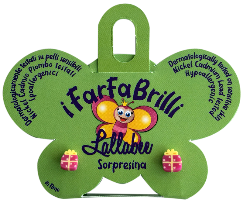 LALLABEE- Farfabrilli Earrings for children ( Sorpresina)Cosmetics Online IE
