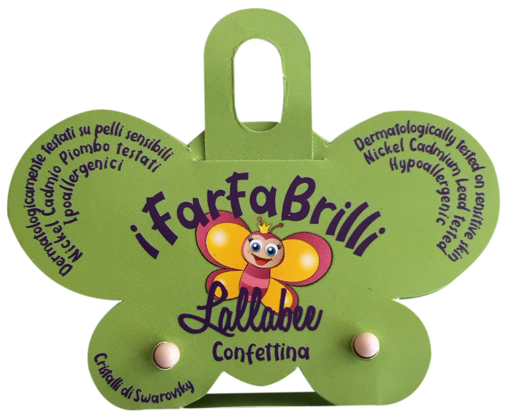 LALLABEE- Farfabrilli Earrings for children ( Confettina)Cosmetics Online IE