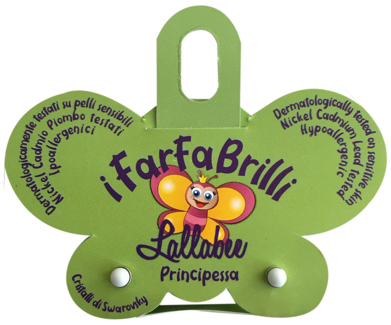 LALLABEE- Farfabrilli Earrings for children (Principessa) WHITE PEARLCosmetics Online IE
