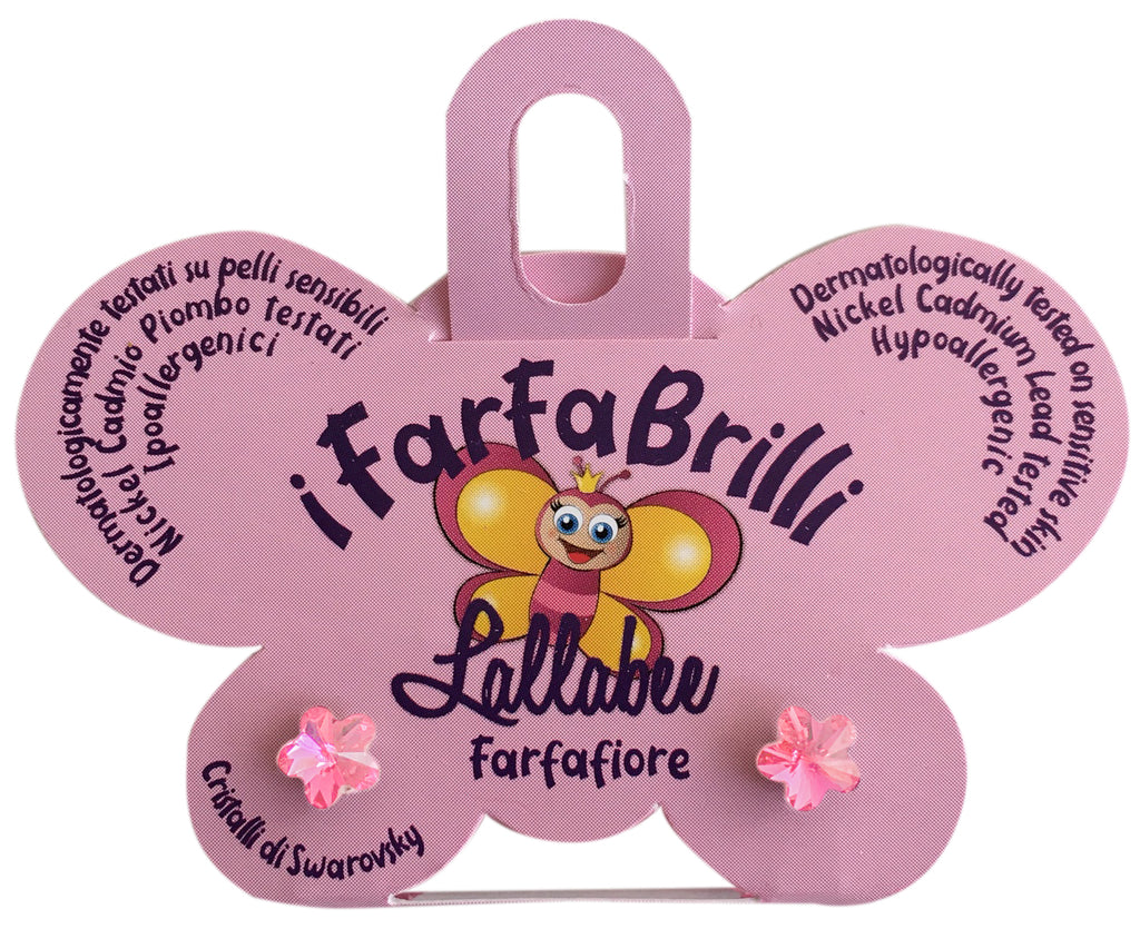 LALLABEE- Farfabrilli Earrings for children (Farfafiore)PINK FLOWERCosmetics Online IE