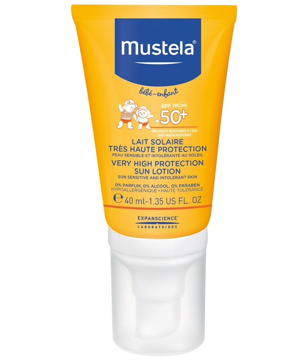 MUSTELA VERY HIGH PROTECTION SUN LOTION SPF 50+ 40ML( F&B)Cosmetics Online IE
