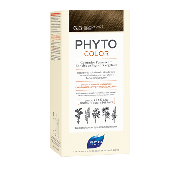 PHYTOCOLOR Permanent Home Hair Colour Kit Dark Golden Blonde ( Shade 6.3 )Cosmetics Online IE