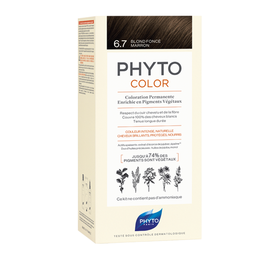 PHYTOCOLOR Permanent Home Hair Colour Kit Dark Chestnut ( Shade 6.7 )Cosmetics Online IE