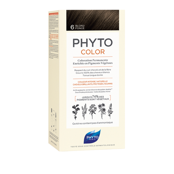 PHYTOCOLOR Permanent Home Hair Colour Kit Dark Blonde ( Shade 6 )Cosmetics Online IE