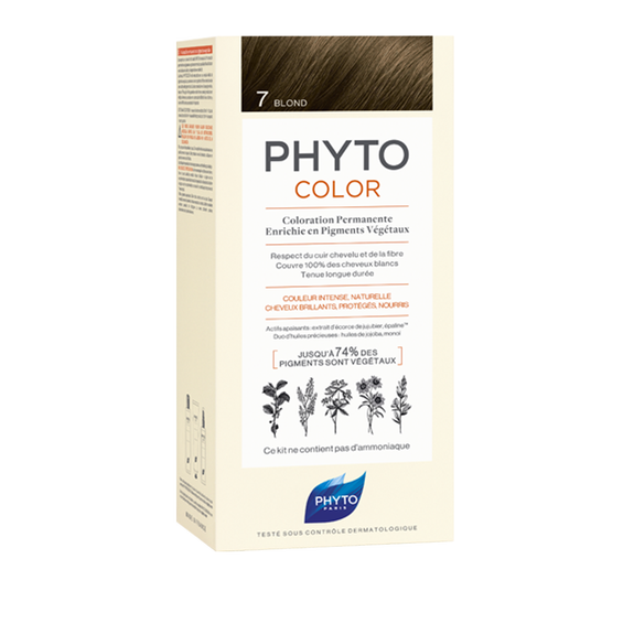 PHYTOCOLOR Permanent Home Hair Colour Kit Blonde ( Shade 7 )Cosmetics Online IE