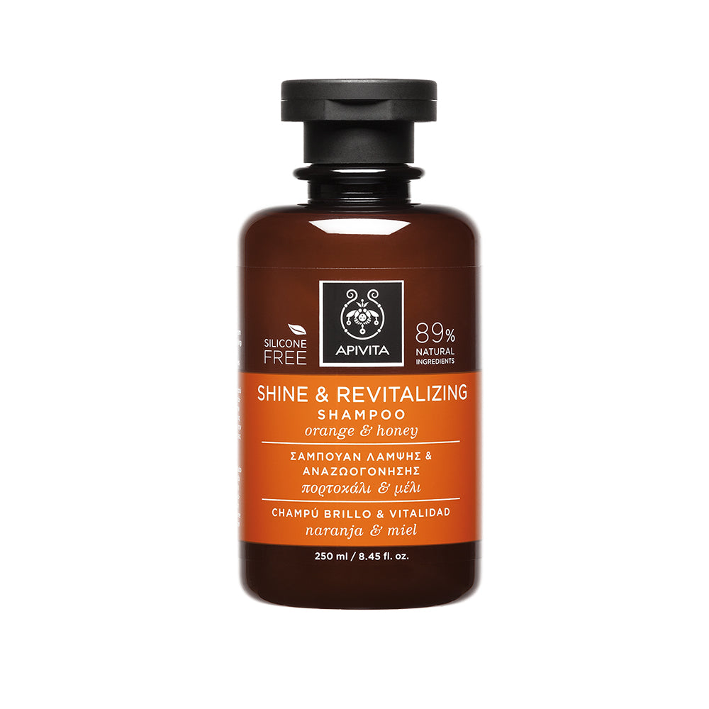 Apivita Shine & Revitalizing Shampoo with Orange & Honey 250ml